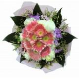 ACC002 : 清麗的粉 - 粉色太陽花花束