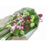 ALL006 - 粉百合,粉玫瑰花束