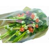 ALL012 : 純潔的美 - 粉百合, 橙玫瑰花束