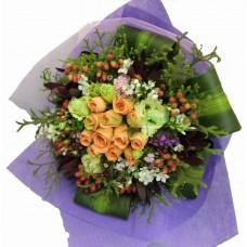 ARS012 - 18支橙玫瑰花束