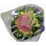 ARS015 : 浪漫情人 - 粉玫瑰,香檳玫瑰花束