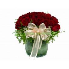 ARS018B : 傾心 - 紅玫瑰連花瓶