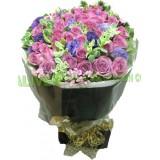 ARS020 : 只想你 - 18支紫玫瑰花束