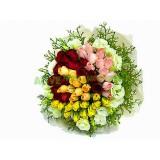 ARS040 : 快樂女孩 - 4色48支玫瑰花束