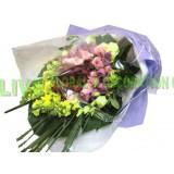ARS050 -(情人節精選08/02-16/02) -甜蜜的讚賞- 36支裝3色玫瑰包括紫,粉,紅色