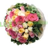 ARS055 -(情人節精選08/02-16/02) 完整的愛-48支裝4色玫瑰花束