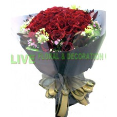 ARS063 - (情人節精選08/02-16/02) Loving You Forever  -12支 紅玫瑰配純黑色包裝