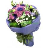 ARS060 :   愛的甜蜜之吻 -  紫玫瑰12支裝花束 (情人節精選優惠)