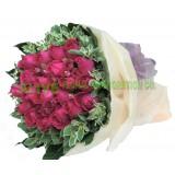 ARS066 : Blushing Roses - 12支桃紅玫瑰花束 (情人節精選)