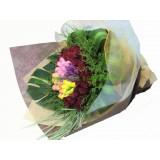 ATL008 a: 唯一的愛 - 4色鬱金香(40支裝), 配12支,紅玫瑰花束 ( 情人節精選08/2 - 16/2 )