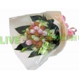 ATL013 : 愛的歡呼聲- 20支裝橙色+粉色屈甘香花束