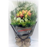 ATL016a : Warmth & Love - 20支裝橙色+黄色屈甘香花束 (情人節精選)